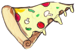 Pizza Slice Little | Artistshot