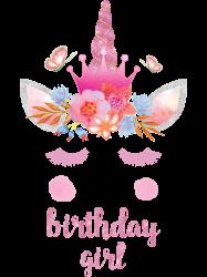 birthday unicorn family series birthday girl | Artistshot