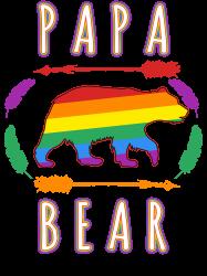 Papa Bear Lgbt Gay Pride T-shirt