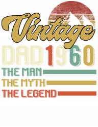 Vintage Dad 1960 The Man The Myth The Legend T-shirt