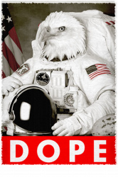 Eagle Dope Astronaut Hipster T-shirt