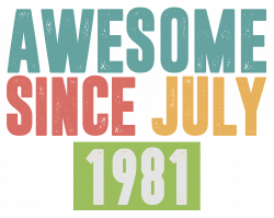 Awesome Since July 1981 Vintage T-shirt