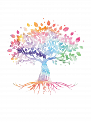 Colorful Life Is Really Good Vintage Unique Tree Art Gift T-shirt