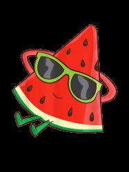Watermelon Summer Melon With Sunglasses Funny Watermelon T-shirt