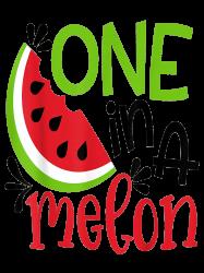 One In A Melon Adorable Cute Fun Summer Watermelon Gift T-shirt