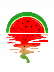 Watermelon Vaporwave Sunset T-shirt