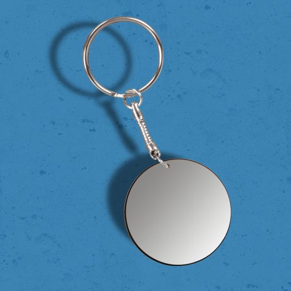 White Round Keychain
