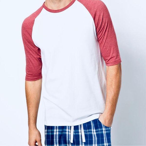 Shop Men's 3/4 Sleeve Shirt Pajama Set &   2021 Men's 3/4 Sleeve Shirt Pajama Set