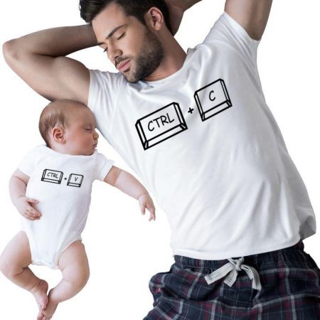 Father And Baby Mtching Matching Shirts