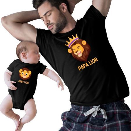 Papa & Baby Lion Matching Shirts