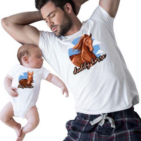 Daddy & Baby Horse Matching Shirts