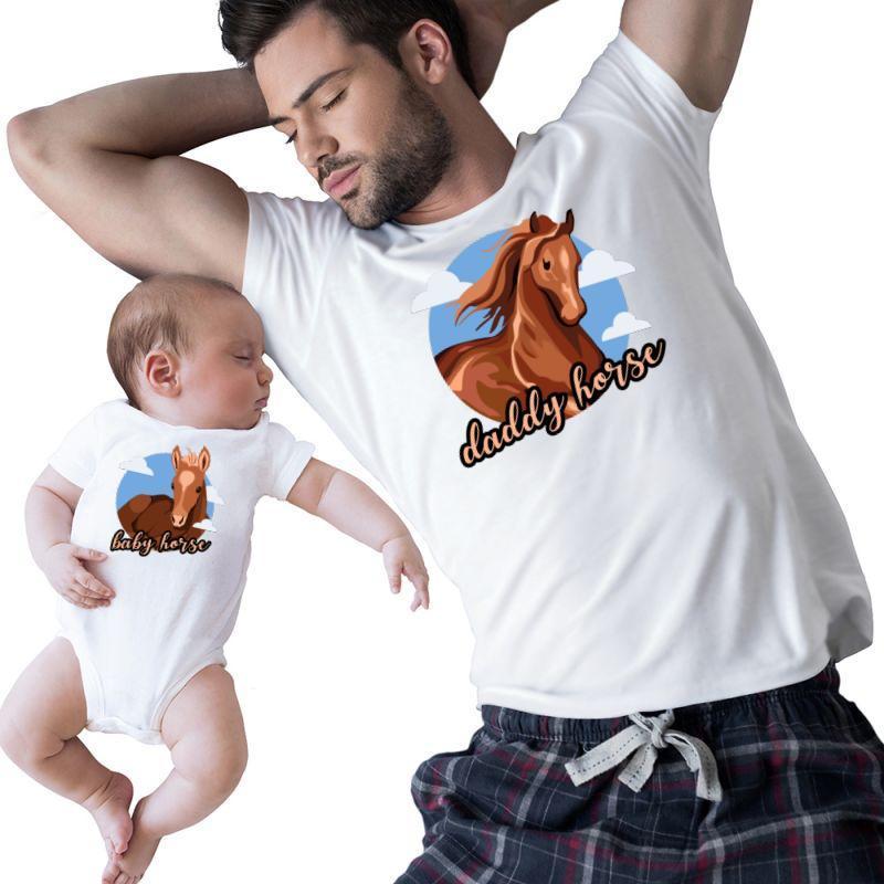 Daddy & Baby Horse | Artistshot