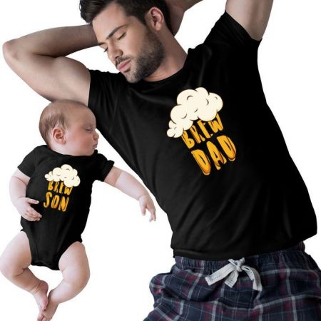 Brew Dad & Son Matching Shirts