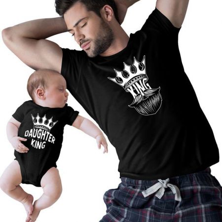 King And Daughter Of A King Matching Shirts