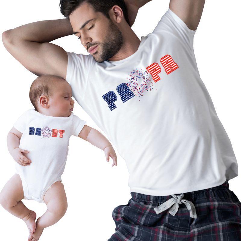 American Papa & Baby | Artistshot
