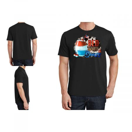 Red White Booze With Cowhide Background T-Shirt Limited Edition
