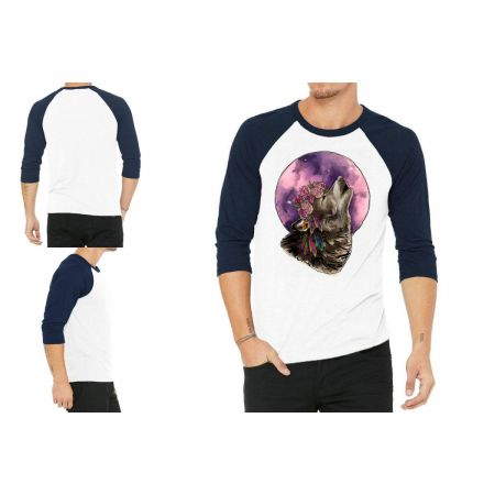 Watercolor Wolf 3/4 Sleeve Shirt Limited Edition