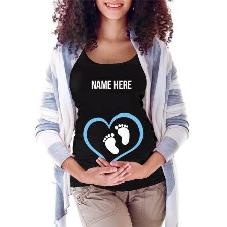 custom maternity shirt baby boy Maternity Scoop Neck T-shirt Limited Edition